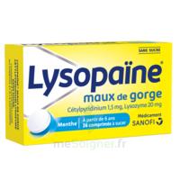 LysopaÏne Comprimés à Sucer Maux De Gorge Sans Sucre 2t/18 à BOURBOURG