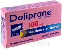 Doliprane 100 Mg Suppositoires Sécables 2plq/5 (10) à BOURBOURG