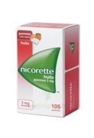 Nicorette 2 Mg Gomme à Mâcher Médicamenteuse Sans Sucre Fruits Plq/105 à BOURBOURG