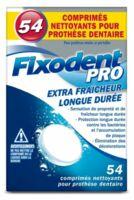 Fixodent Pro Comprimés Nettoyant Fraîcheur Longue Durée Pour Prothèse Dentaire B/54 à BOURBOURG