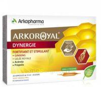 Arkoroyal Dynergie Ginseng Gelée Royale Propolis Solution Buvable 20 Ampoules/10ml à BOURBOURG