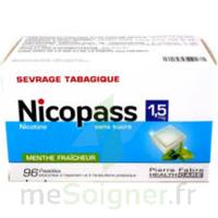 Nicopass 1,5 Mg Pastille Sans Sucre Menthe Fraîcheur Plq/96 à BOURBOURG