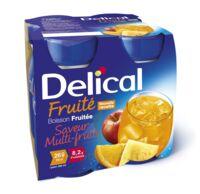 Delical Boisson Fruitee Nutriment Multi Fruits 4bouteilles/200ml à BOURBOURG