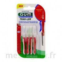 Gum Trav - Ler, 0,8 Mm, Manche Rouge , Blister 4 à BOURBOURG