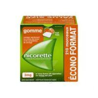 Nicorette 2 Mg Gomme à Mâcher Médicamenteuse Sans Sucre Fruits Plq/210 à BOURBOURG