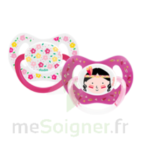 Dodie Duo Sucette Anatomique Silicone +18mois Girly à BOURBOURG