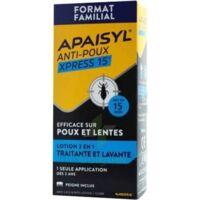 Apaisyl Anti-poux Xpress 15' Lotion Antipoux Et Lente 200ml+peigne à BOURBOURG