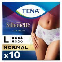 Tena Lady Silhouette Slip Absorbant Blanc Normal Large Paquet/10 à BOURBOURG