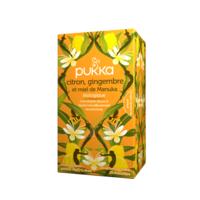 Pukka Bio Citron, Gingembre Et Miel De Manuka Tisane Immunité Citron Gingembre Miel De Manuka 20 Sachets à BOURBOURG