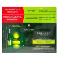 René Furterer Triphasic Progressive Sérum Antichute Coffret 8 Flacons X 5,5ml + Shampoing Stimulant 100 Ml à BOURBOURG
