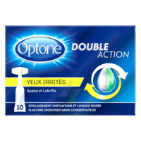 Optone Monodose Double Action Solution Oculaire Yeux Irrités B/10 à BOURBOURG